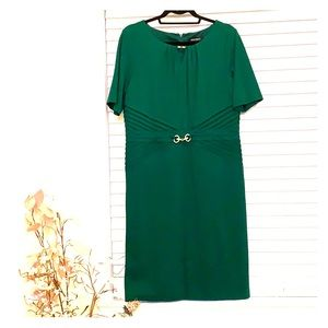 Emerald Green Half Sleeve Sheath